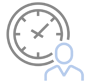 Icon with clock and person | connect your calendar