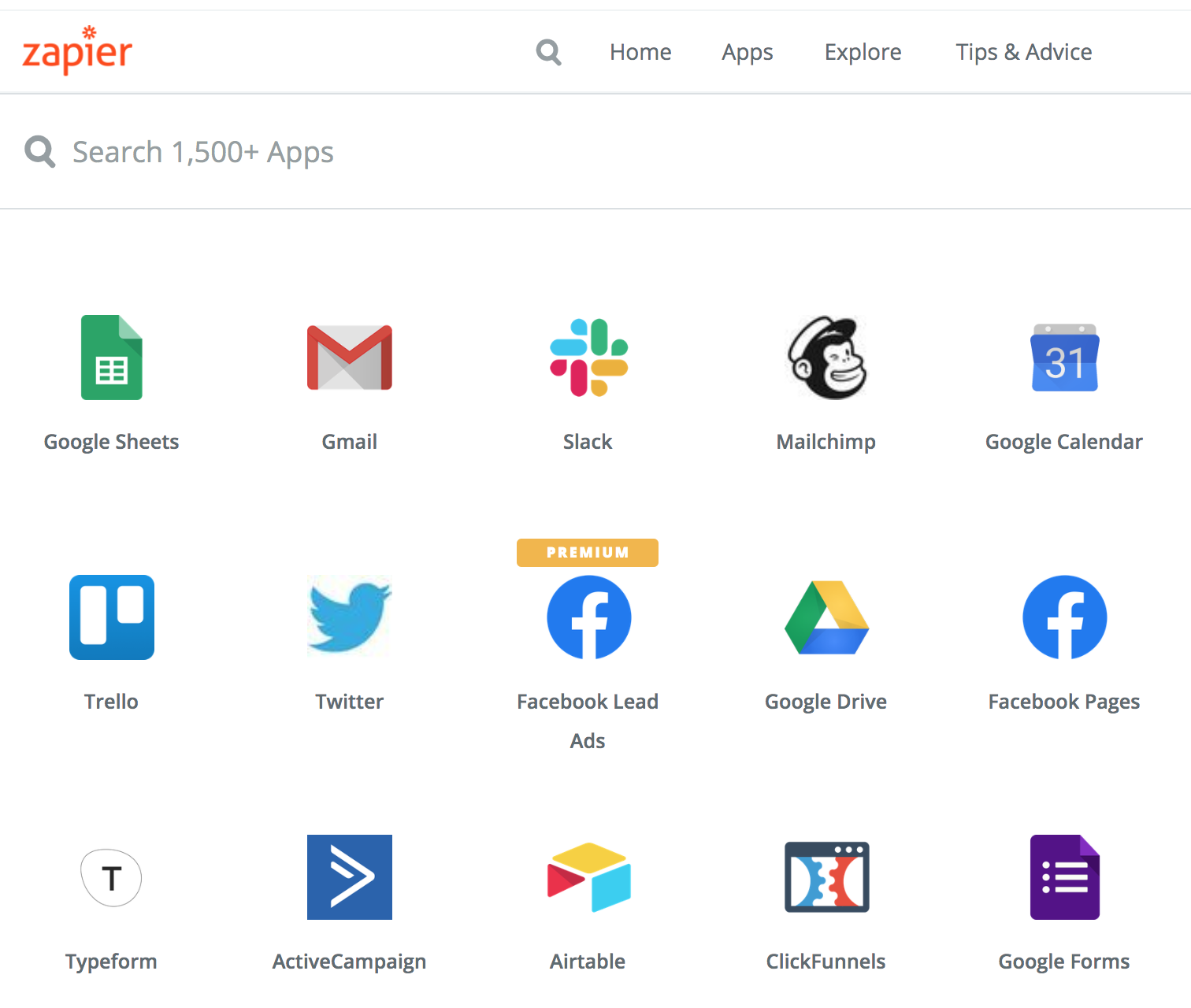 Connect to over 1500 other apps on Zapier